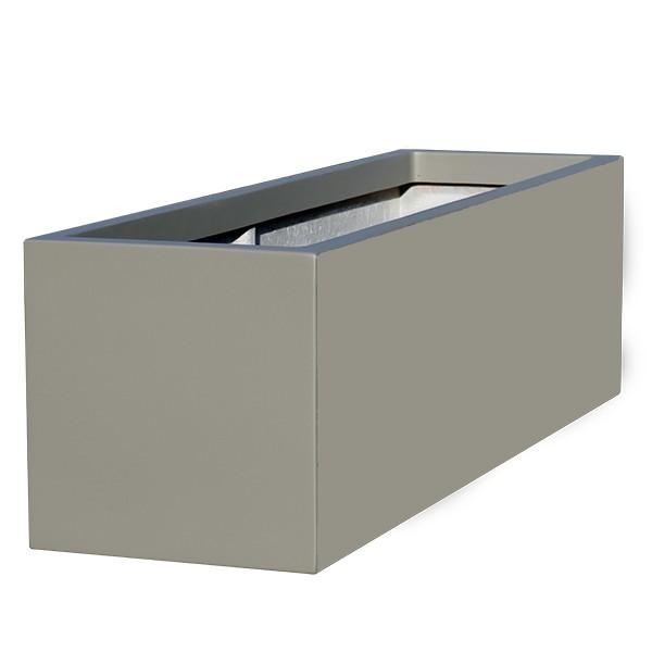 Jardini re basse r sine polyester hauteur 40 cm bacs - Jardiniere resine rectangulaire ...