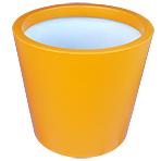 Pot de fleurs conique large - couleur jaune safran (RAL 1017)