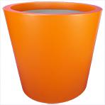 Pot de fleurs conique large - couleur orangé signalisation (RAL 2009)