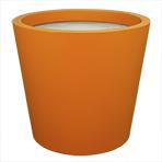 Pot de fleurs conique large - couleur orangé jaune (RAL 2000)