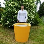 Pot de fleurs conique large hauteur 80 cm - détail)