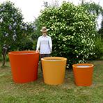 Pots de fleurs coniques larges