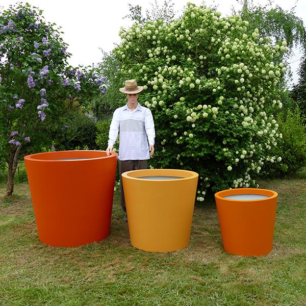 grand pot de fleurs conique large hauteur 80 cm bacs et jardins. Black Bedroom Furniture Sets. Home Design Ideas