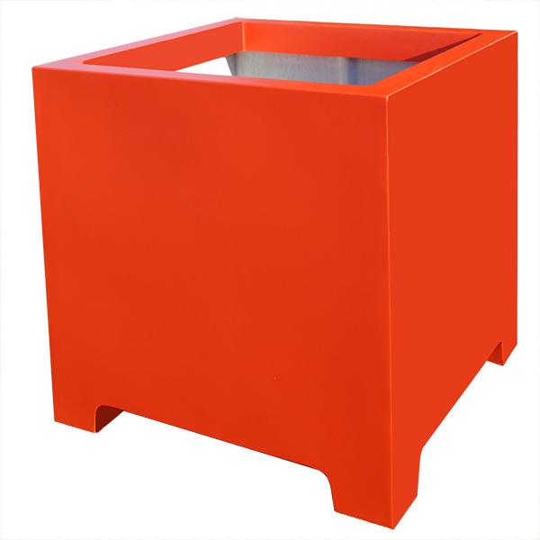 Bac cube avec pieds hauteur 100 cm