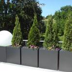 Bacs à plantes cubiques hauteur 80 cm