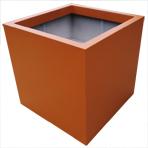 Bac à plantes carré - couleur brun orangé (RAL8023)