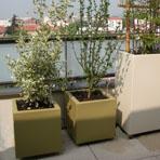 bac à plantes cubique hauteur 45 cm