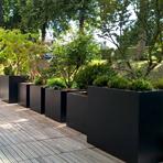 Bacs jardinières - couleur gris anthracite (RAL 7016)
