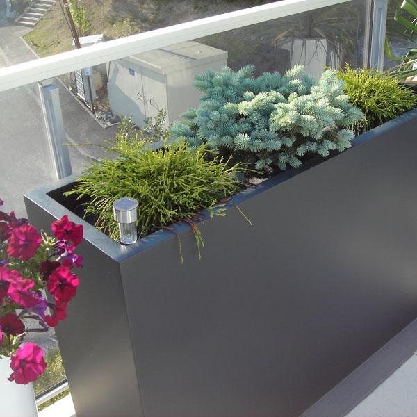 Jardini re r sine polyester hauteur 50 cm bacs et jardins - Jardiniere etroite ...