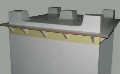 modèle pour bac à plantes avec pieds