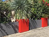Bacs à plantes pour aménager une terrasse